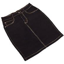 Plus Size Jeans Rock Für Damen bei Ital-Design