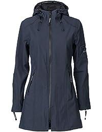 Ilse Jacobsen Damen Parka mit Kapuze | Outdoor Regenjacke wasserdicht, Winddicht, atmungsaktiv | Softshell 100% Polyester | RAIN07