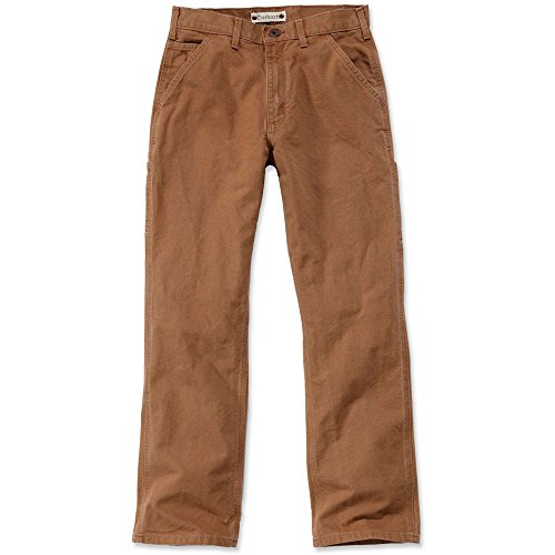 Duck Work Pant (Carhartt. EB011. BRN. S414 Washed Duck Work Dungaree, W34/L36, Braun)