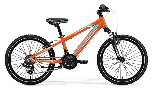 Unbekannt Kinder Fahrrad 20 Zoll - Merida MATTS J20 - Shimano 14-Gang Kettenschaltung, Suntour Federgabel, matt orange/blau/weiß