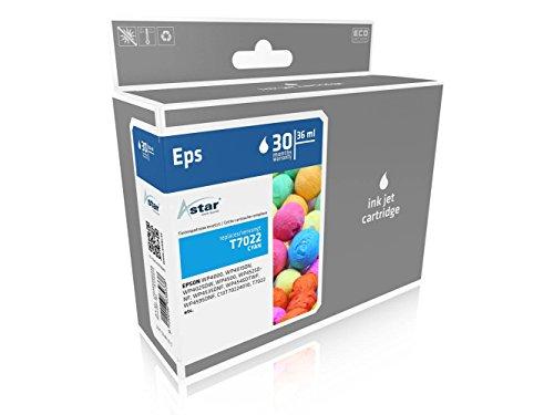 Preisvergleich Produktbild ASTAR AS15472 Tintenpatrone kompatibel zu EPSON T7022 2000 Seiten, Cyan