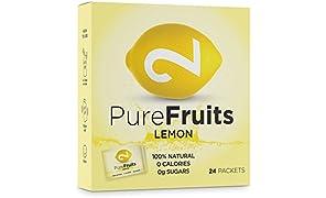 DUAL Pure Fruits Lemon| 100% naturale| Da vero succo di limone| Vitamina C arricchita| 24 bastoncini| 2g per bastoncino| Fino a 52l di succo| Certificato di lab| Senza zucchero & additivi|Made in EU