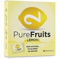 Dual Pure Fruits Lemon | 100% Natural | Hecho De Zumo De Limón Real | Sin Azúcar | Sin Aditivos | Enriquecido Con Vitamina C | 24 Sobres | 2 Gramos Por Sobre | Certificado Por Laboratorio Competente