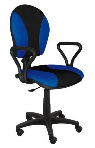 Best For Office Bürostuhl Höhenverstellung Schreibtischstuhl MARKO Modell (BLAU-SCHWARZ)