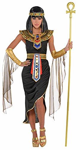 Ägyptische Königin Cleopatra Kostüm - Schwarz Gold - Gr. L (Cleopatra Kostüm Schwarz)