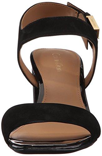 Calvin Klein Cimi Blockabsatz Sandale Black Nubuck