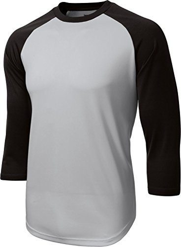 Sport-Tek Men's 3/4 Raglan Sleeve Baseball Jersey (Raglan-baseball-jersey)
