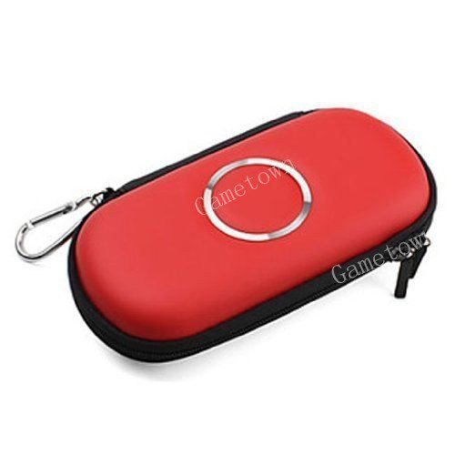Schutzhülle Hard Case Carry Cover Tasche für PSP 1000PSP 2000PSP 3000Konsole rot.
