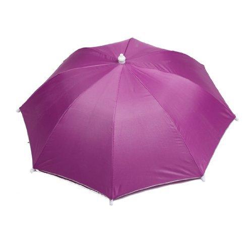 Dehnbare Kopfband-Regen-Regenschirm-Hut-Kappe Fuchsia für Outdoor Angeln
