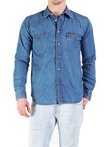 Carrera jeans camicia uomo 7 oz blu denim xl