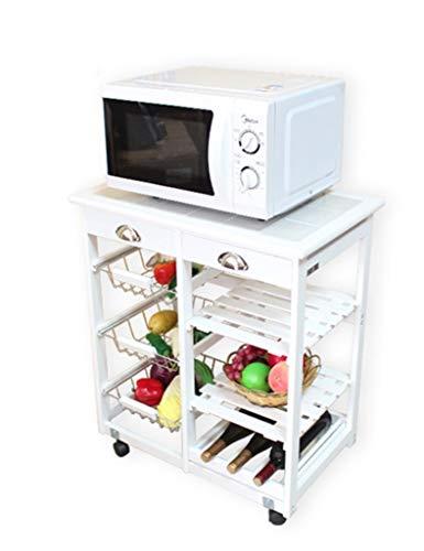 QNJM 4 Tier Küche Storage Unit Rack, Badezimmer Regale Regal Bad Organizer, Moderne Mikrowelle Rack for Pantry Küche Wohnzimmer - Regal Storage Unit