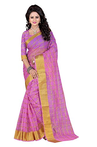 SUNSHINE Light Purple Color Poly Cotton Fabric Beautiful Border Saree( New Arrival Latest Best Design Beautiful Saree Material Collection For Women and Girl Party wear Festival wear Special Function Events Wear In Low Price With Todays Special Offer with Fancy Designer Blouse and Bollywood Collection 2017 )  available at amazon for Rs.319
