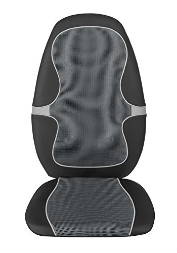 Medisana Shiatsu MC 815 - Respaldo de masaje con 4 cabezales de masaje giratorios y diferentes niveles de intensidad, en 3 zonas diferentes de la espalda