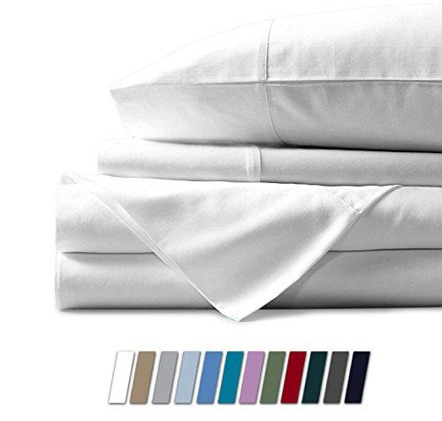 Lujoso juego de sábanas suaves: se desliza en la suavidad de felpa con este juego de sábanas 100% algodón egipcio/sábana extendida por MAYFAIR Linen. Más duradero que la mayoría de las sábanas de microfibra, las sábanas de algodón tienen un acabado s...