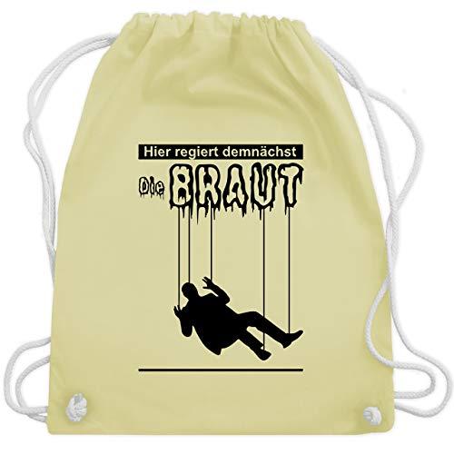 JGA Junggesellenabschied - Hier regiert demnächst die Braut - Unisize - Pastell Gelb - WM110 - Turnbeutel & Gym Bag