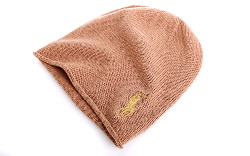 Polo Ralp Lauren Damen Wintermütze Einheitsgröße Cashmere camel-gold (Camel Lauren Ralph)
