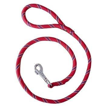 Laisse nylon corde 3 m rouge largeur 13 mm environ pour chien/Zolux