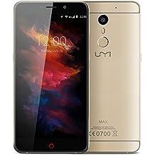 "UMI Max - Smartphone Móvil Libre Android 6.0 4G (5.5 "" 1920 x 1080 FHD, Octa cores, Dual Sim, Huellas Digitales, 16Gb Rom 3Gb Ram, 5.0MP/13.0MP, OTG, GPS, Multi-idioma), Dorado"