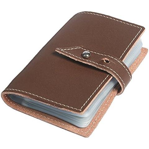 Kilofly Business Card Holder nome carta di credito, in pelle marrone