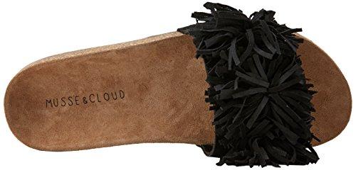 MUSSE & CLOUD Bluebell, Sandales Bout Ouvert Femme Noir (Blk)