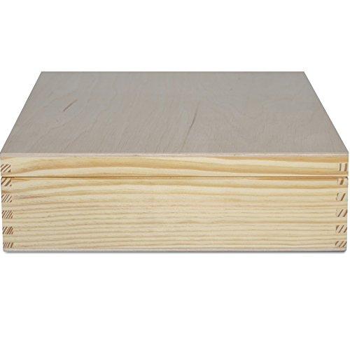 Grande Caja para Té Bolsita Madera   12 Compartimentos   29 x 25 x 7,5 cm Decoradas Decoupage y Decoración