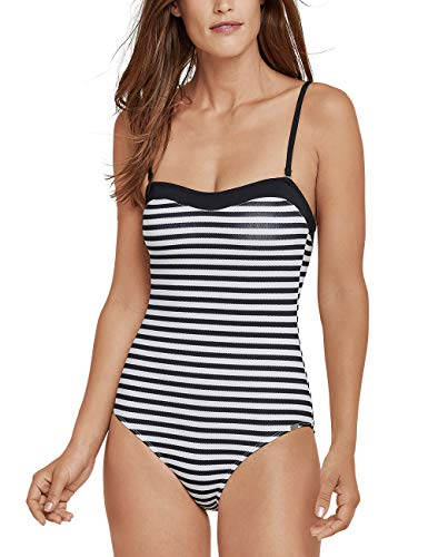 Schiesser Damen Mix & Match Badeanzug, Schwarz 000, 42 (Herstellergröße: 042C) (Badeanzug Damen Mix Unten)