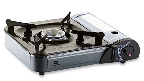 Kemper 9799605 Fornello a Cartuccia da Tavolo Smart, Black, Grey
