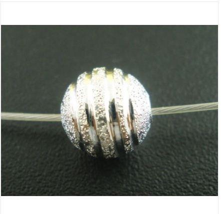 lot-de-50-perles-plaquees-argent-avec-effet-poussiere-detoiles-8-mm
