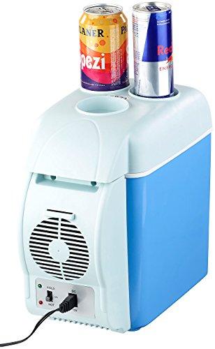Lescars Autokühlschrank: Thermoelektrische Kfz-Wärme- & Kühl-Box, Getränkehalter, 7,5 l, 12 V (Elektrische Auto Kühlboxen)