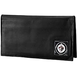 NHL Winnipeg Jets Genuine Leather Deluxe Checkbook Cover