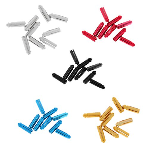 *MagiDeal 45 Stück Aluminium Dart Flight Protektors in 5 Farben*