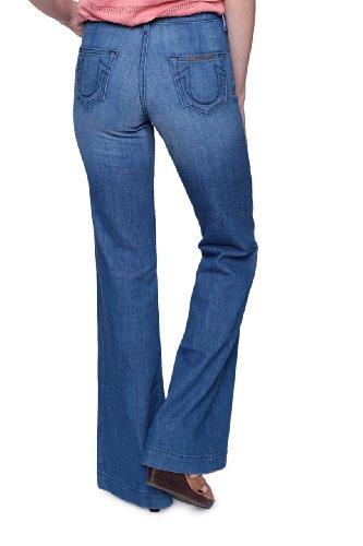 True Religion Damen Jeans Wide Leg CORINNE HI-RISE Wash NSM, Farbe: Blau, Größe: 27 (Rise Leg High Jean Wide)