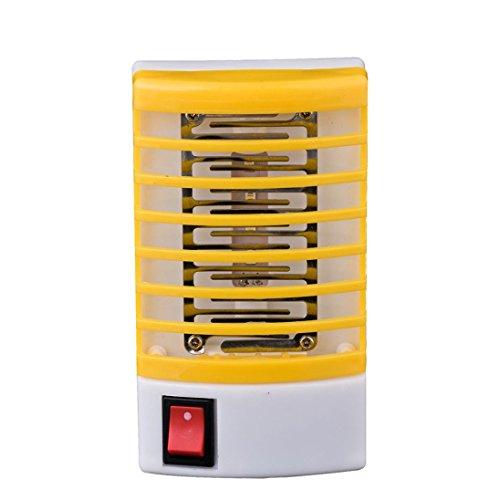 Preisvergleich Produktbild VENMO Moskito killer Insektenvernichter Elektrisch Ultravioletter LED Insektenlampe Indoor Mückenfalle Mücken Beseitiger Insektenfalle UV Mückenlampe Steckdose Elektrische Moskito Fliegen Bug Insektenfalle Killer Nacht Lampe Lichter (yellow)