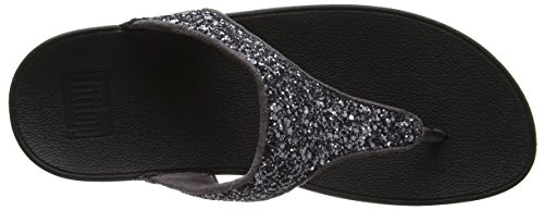 FitFlop Glitterball Tm Toe Post, Infradito Donna Grey (Pewter)