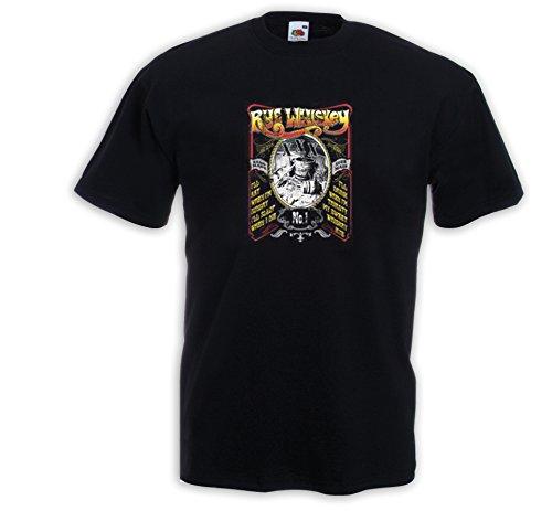 Booze T-Shirt Rye Whiskey Moonshine Redneck Rockabilly XXX Biker Schwarz