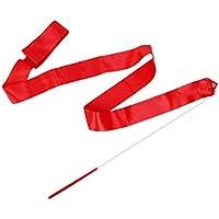 SuntekStore Online Ruban de Gymnastique Danse Rythmique Bâton de Tige Banderoles Virevoltant