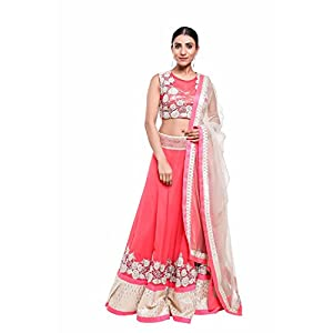 Pushp Paridhan Designer New Collection Traditional Ethnic Wear Machine With Handwork Onion Pink Lehenga Choli Set For Women