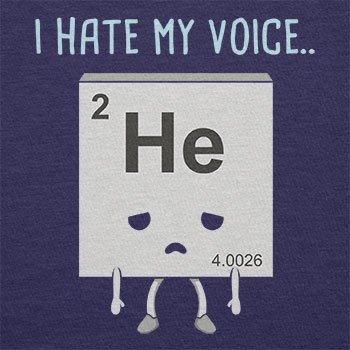 NERDO - I hate my Voice - Herren T-Shirt Navy ...