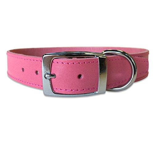 BBD Lederhalsband, einfarbig, 46-53 cm