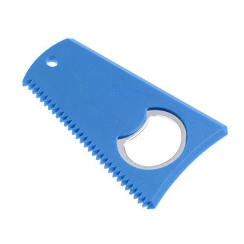 MagiDeal Surfbrett Wachs Kamm mit Flaschenöffner - Wachs Reinigung Entferner - Surfbrett Pflege Werkzeug - Surfboard Wax Remover Comb - Blau