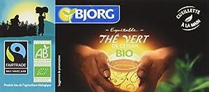 Bjorg Thé Vert Bio et Équitable 25 infusettes - Lot de 4