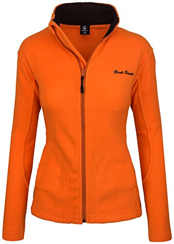 Rock Creek Damen Fleecejacke Fleece Jacke Übergangs Jacke Sweatjacke D-389 [Orange XXL]