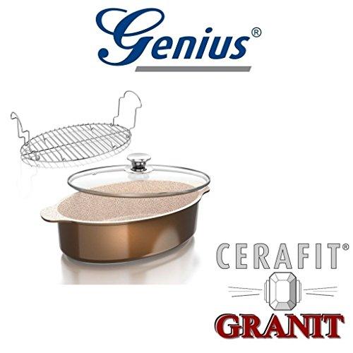 Auswahl von Genius Granit Serie Crepes-Pfanne, Bratpfanne, WOK-Pfanne, Grillpfanne, Bräter, Töpfe (Bräter 3 teilg)