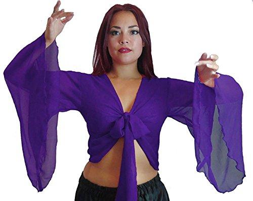 Bauchtanz Choli Winged Arm Top Tribal Gypsy Kostüm UK Größe 12-24 - bis XXXL (18-24, LILA)