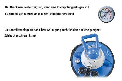 Miganeo® Sandfilteranlage 8,5 m³ Pumpe mit integrierter Zeitschaltuhr für Pool bis 33m³ - 3