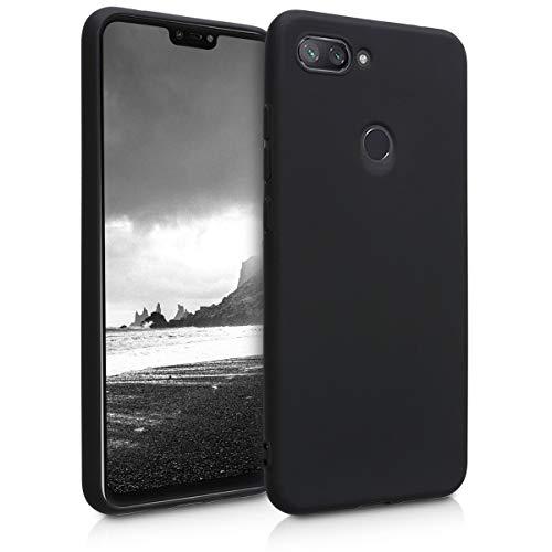 kwmobile Funda para Xiaomi Mi 8 Lite - Carcasa para móvil en TPU Silicona - Protector Trasero en Negro Mate