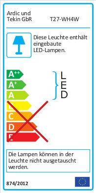 Ultra Flach LED Einbaustrahler IP44 für den Wohnbereich |auch für das Bad geeignet| Warmweiß 4W 230V Rahmen weiss Rund Einbauspots Badleuchten, 5 Stück Einbauleuchten - 3