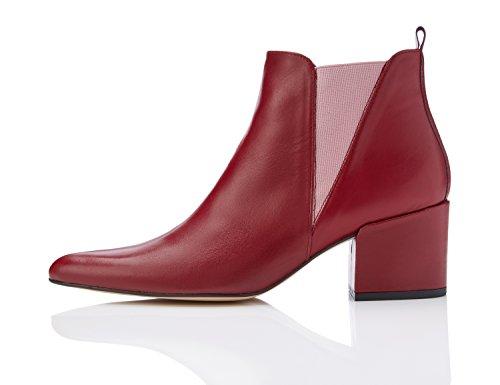 find-dewie-botas-chelsea-para-mujer-rojo-deep-plum-37-eu