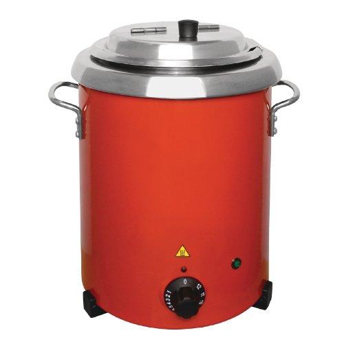 Buffalo rojo eléctrico de sopa con asas 5.7Ltr/348x 255mm eléctrico...
