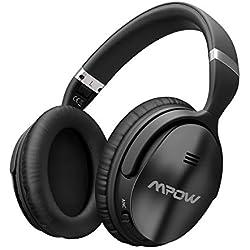 Mpow H5 Activa Cancelación de Ruido Auriculares Bluetooth(ANC), Over-Ear Auriculares Bluetooth Diadema Estéreo de Alta Fidelidad,Cascos Bluetooth Inalámbricos,Auriculares Inalambricos Plegables
